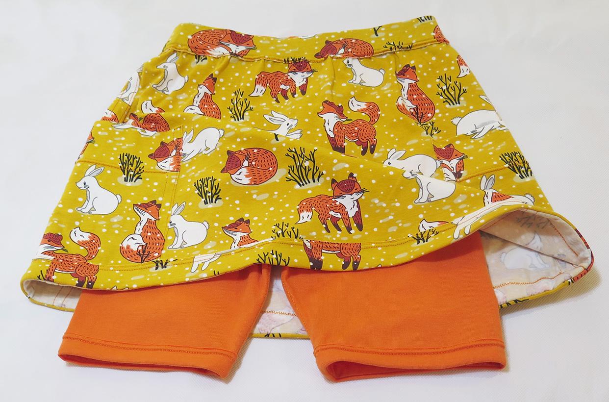 girls skort pattern