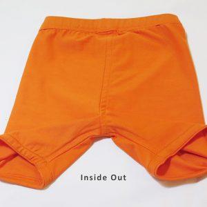 kids short leggings inside out