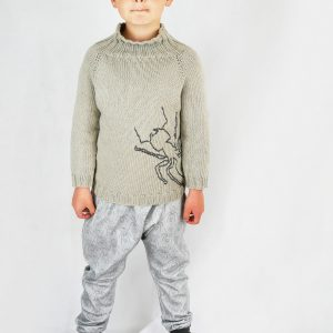 kids raglan sleeve sweater pattern with the kids harem pants