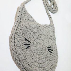 little girls crochet shoulder bag