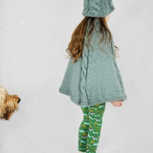kids poncho knitting pattern