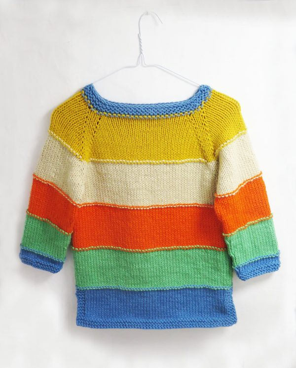 Childs sweater knitting pattern
