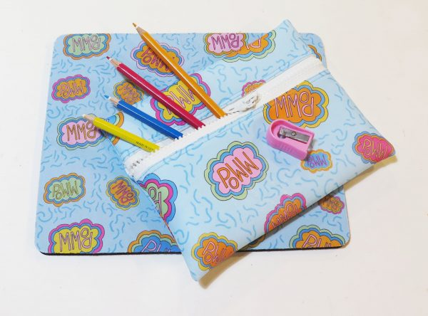 Pencil Case and Mouse Mat