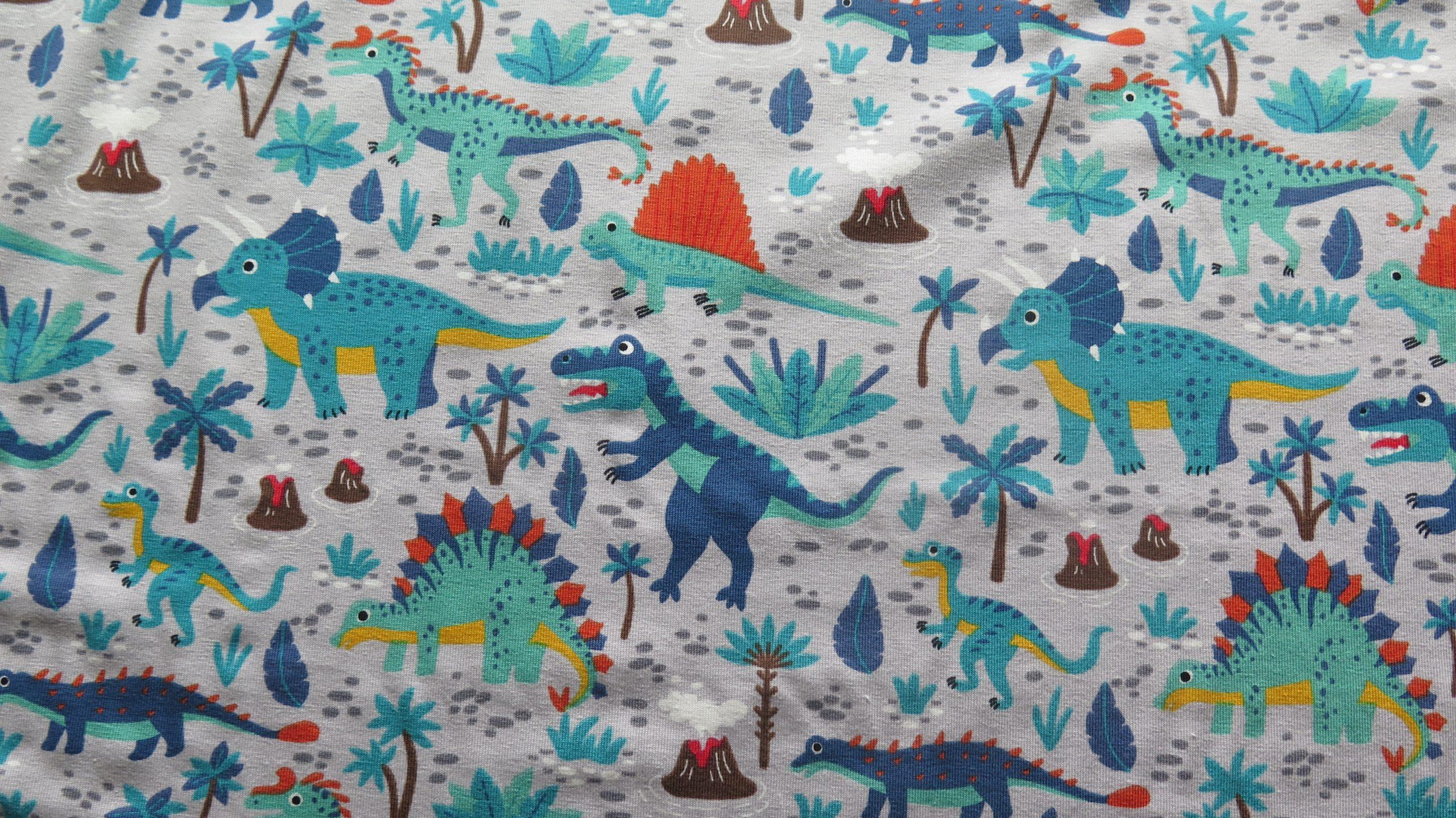 jersey fabric dinosaur