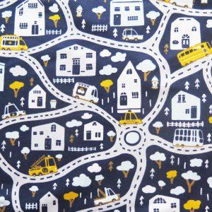 road map fabric print
