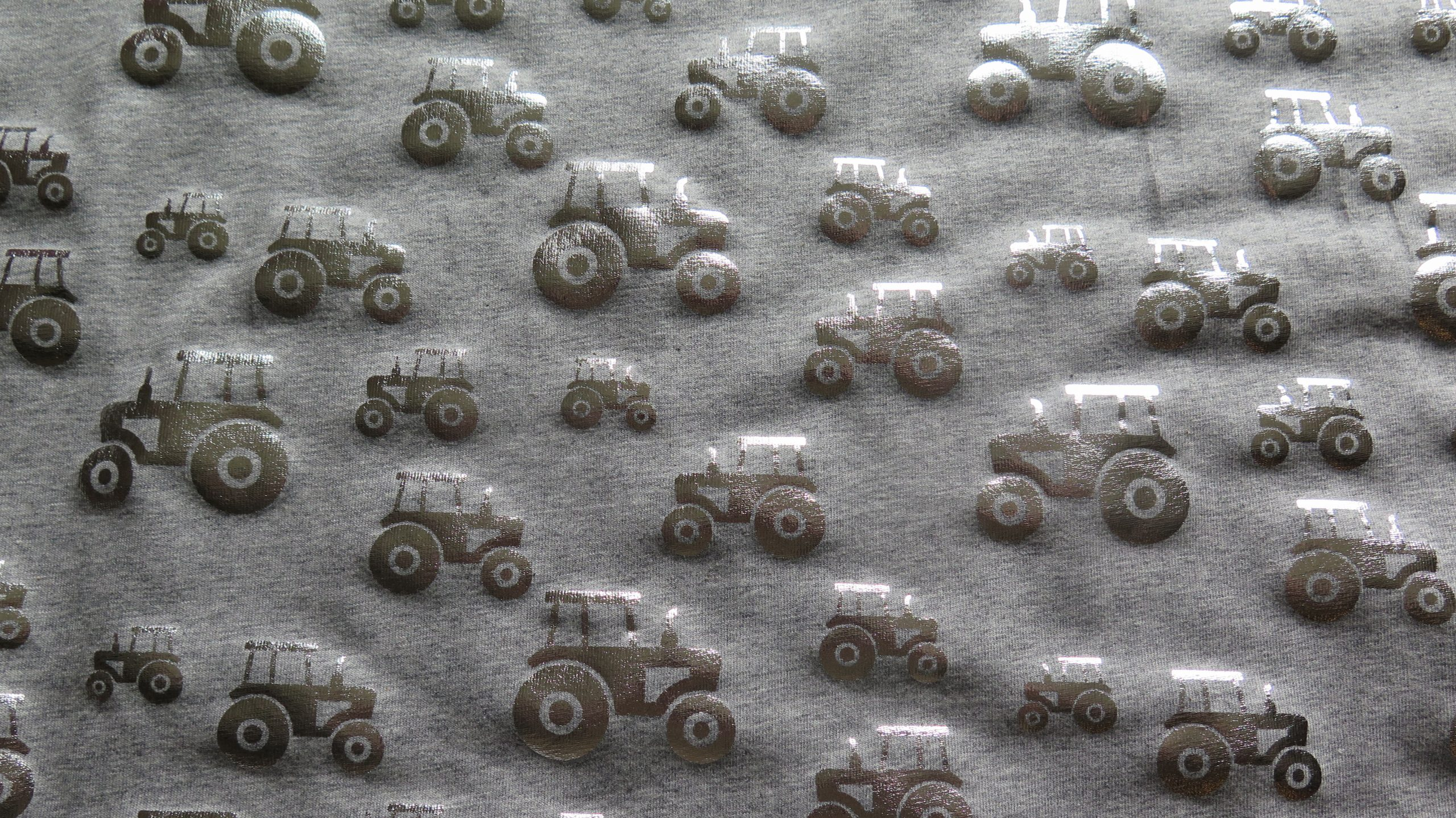 silver tractor fabric